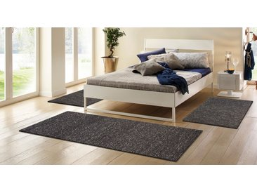My HOME Bettumrandung Wolly B/L (Brücke): 70 cm x 140 (2 St.) (Läufer): 270 (1 St.), rechteckig grau Bettumrandungen Läufer Teppiche
