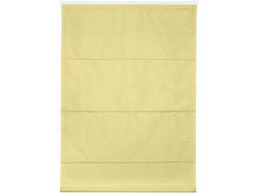 Raffrollo Top verspannt ohne Bohren im Festmaß, LICHTBLICK, mit Klemmträger, Bohren, 2, H/B: 130/60 cm, blickdicht, Klemmträger gelb Blickdichte Vorhänge Gardinen