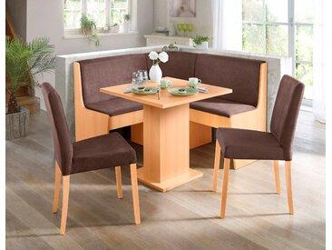 Eckbank Microfaser, klein, Gr. ca. 128,5 x cm braun Eckbänke Sitzbänke Stühle