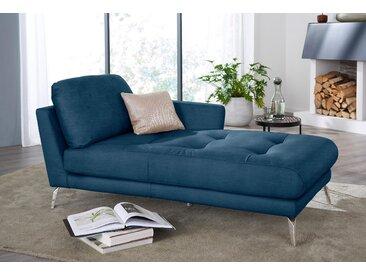 W.SCHILLIG Chaiselongue softy Velourgewebe V41, 106 cm, Armlehne rechts blau Leder-Recamieren Ledersofas Sofas Couches