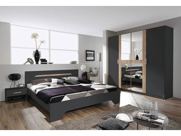 rauch BLUE Schlafzimmer-Set Rubi (Set, 4-tlg) Einheitsgröße grau Komplett Schlafzimmer Betten Schlafzimmermöbel-Sets