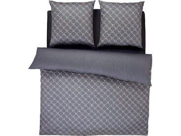 Wendebettwäsche Cornflower Gradiant, Joop 0, 1x 200x220 cm, 2x 80x80 Mako-Satin grau Bettwäsche 135x200 cm nach Größe Bettwäsche, Bettlaken und Betttücher