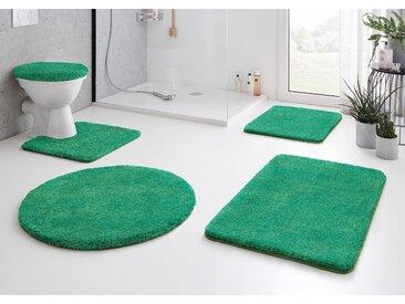 Kleine Wolke Badematte RELAX, Höhe 30 mm, rutschhemmend beschichtet, fußbodenheizungsgeeignet 14, quadratisch mit Ausschnitt 55x55 cm, mm grün Einfarbige Badematten