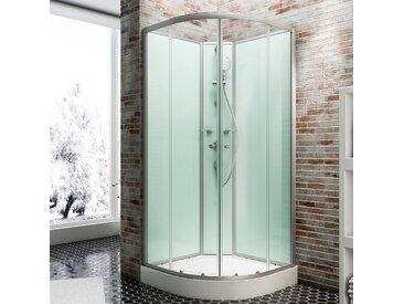Schulte Komplettdusche Kreta, inklusive Armatur Einheitsgröße grün Duschkabinen Duschen Bad Sanitär