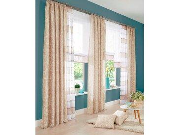 my home Gardine Camposa 265 cm, Kräuselband, 140 cm beige Wohnzimmergardinen Gardinen nach Räumen Vorhänge