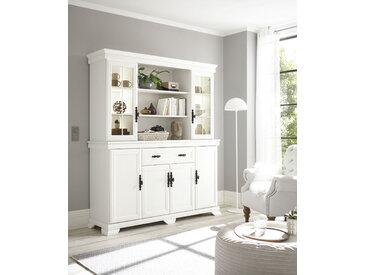 Home affaire Buffet Royal, exclusiv Design im Landhausstil TOPSELLER B/H/T: 168 cm x 195 46 cm, 4 weiß Anrichten Buffetschränke Schränke