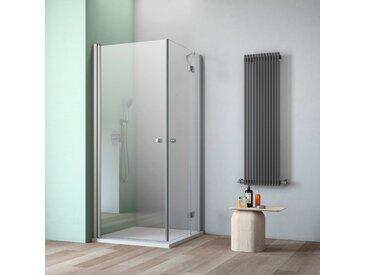 maw Eckdusche A-E130, ebenerdiger Einbau möglich Einheitsgröße silberfarben Duschkabinen Duschen Bad Sanitär