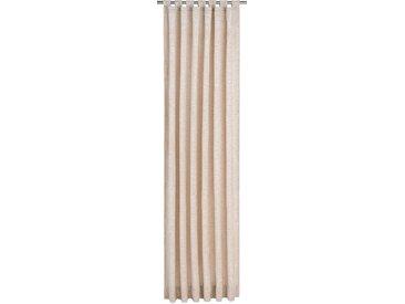 Vorhang, Trondheim 328 g/m², Wirth, Schlaufen 1 Stück 16, H/B: 255/270 cm, blickdicht / energiesparend, beige Blickdichte Vorhänge Gardinen Gardine