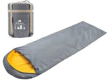 CampFeuer Deckenschlafsack  220 x 75 cm  grau/orange  Schlafsack