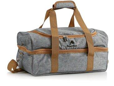CampFeuer Picknicktasche für 4 Personen  Picknickset 20-teilig  grau