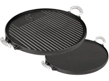 BBQ-Toro Gusseisen Grillplatte mit Griffe  Ø 43 cm  emailliert