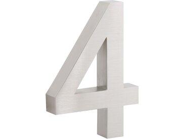 "ZELSIUS Edelstahl Hausnummer ""4"""