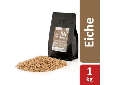 BBQ-Toro 1 kg Oak Pellets aus 100% Eichenholz  Eichenpellets