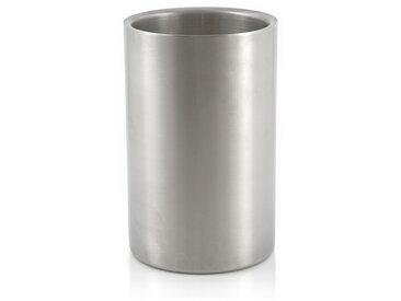 Weinkühler, Edelstahl Sektkühler, doppelwandig, Ø 12 x (H) 19 cm