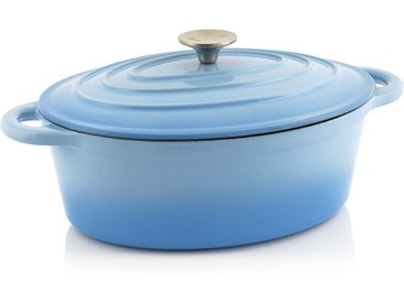 BBQ-Toro Cocotte  4,3 Liter - 30 x 23 cm  Gusseisen emailliert, blau