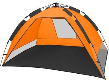 CampFeuer - Automatik Strandmuschel, beach tent, orange/grau