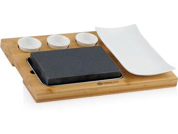 Mahlzeit Lavastein Set (7-teilig)  Set mit heißem Stein, Teller und Dipschalen