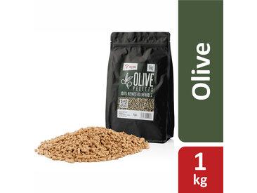 BBQ-Toro 1 kg Olive Pellets aus 100% Olivenholz   Olivenpellets