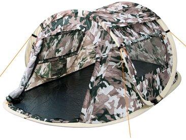 """CampFeuer Wurfzelt """"Quiki""""  2 Personen Quicktent Flecktarn Camouflage"""