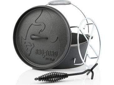 BBQ-Toro Dutch Oven DO45AX, 3,1 L Alpha Gusseisen Kochtopf, Gusstopf