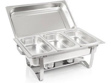 """ZELSIUS Chafing dish """"Cannes"""" mit 3x 1/3 GN Warmhaltebehälter"""