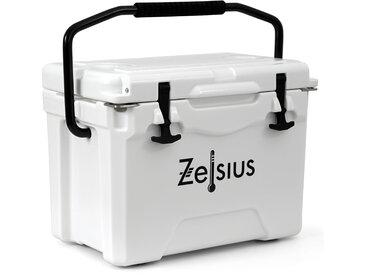 Zelsius Kühlbox weiß 25 Liter  Cooling Box ideal für Auto Camping