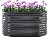 Zelsius Hochbeet für Garten  160 x 80 x 82 cm  Metall Blumenkasten für Balkon