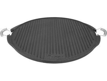 BBQ-Toro Gusseisen Grillplatte mit Griffe  Ø 53 cm  emailliert