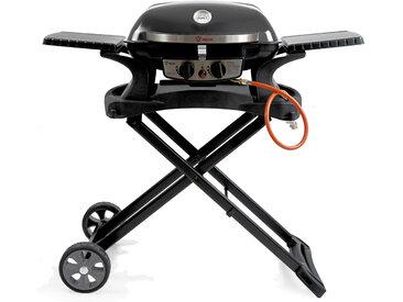 BBQ-Toro Tragbarer Tisch Gasgrill mit Grilltisch für Balkon, Camping