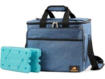 CampFeuer Kühltasche 30 Liter, blau-meliert, leicht und wasserdicht