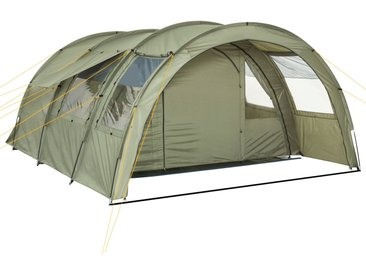 "CampFeuer Tunnelzelt ""Multi"" Zelt für 4 Personen olivgrün Campingzelt"