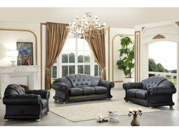 XL Luxus Chesterfield Oriental Style Sofagarnitur (3/2/1 oder 3/1/1) Ledergar...