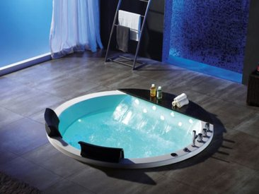 2 Pers. Whirlpool 170x170 Austin XL Badewanne Marmor Sonderpreis (ohne Schürze)