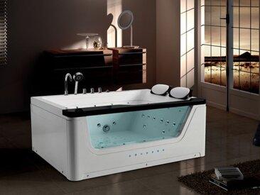 Whirlpool Alabama 170x130 Badewanne Wasserfall für 2 Personen Sonderpreis