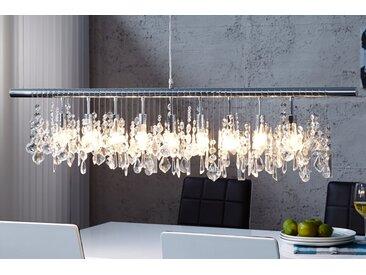 Extravagante Hängelampe DIAMONDS XL 120cm Kristall Lampe mit 9 Leuchten