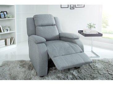 Moderner Relaxsessel HOLLYWOOD hellgrau Fernsehsessel mit Liegefunktion