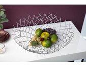 Design Obstschale STRUCTURE 45cm silber pulverbeschichtetes Metall