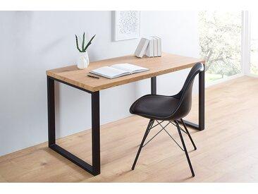 Design Schreibtisch OAK DESK 120cm Eiche Vintage Metallgestell schwarz