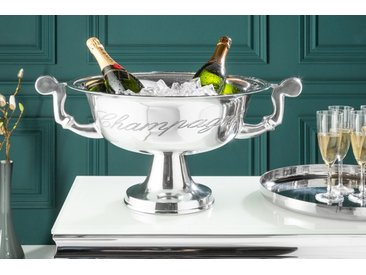 Eleganter Design Champagner Kühler CHAMPAGNE 40cm silber poliert Flaschenkühler