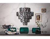 Extravaganter Kronleuchter KRISTALL 50cm edel-grau mit Glasprismen