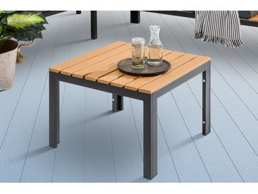 Outdoor Garten Tisch ORLANDO LOUNGE 60cm schwarz Stahl wetterfest