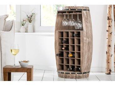 Shabby Chic Weinregal BODEGA 97cm natur Weinfass für 24 Flaschen