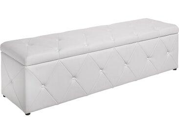 Elegante Bettbank EXTRAVAGANCIA 140cm weiß Chesterfield Design
