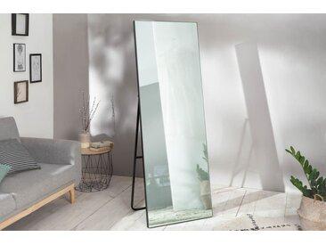 Moderner Standspiegel NOEMI 170cm schwarz mit ausklappbarem Standfuß