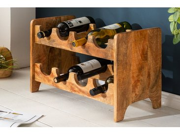 Massives Weinregal BODEGA 54cm Mango natur Wandregal Flaschenhalter