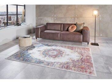 Vintage Teppich MARRAKESCH 230x160cm rot blau florales Perser-Muster