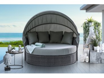 Outdoor Sonneninsel PLAYA LIVING 165cm grau inkl. Kissen und drehbarer Sitzfläche