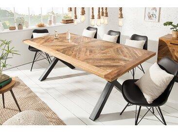 Massiver Esstisch INFINITY HOME 160cm natur Mangoholz Industrial Design
