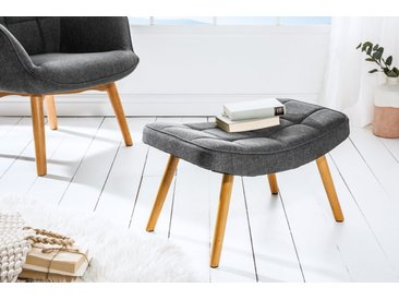 Design Hocker SCANDINAVIA grau Buche Scandinavian Design Fußhocker