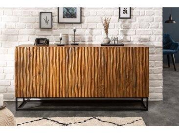 Massives Sideboard AMAZONAS 160cm Mangoholz natürliches Front Design